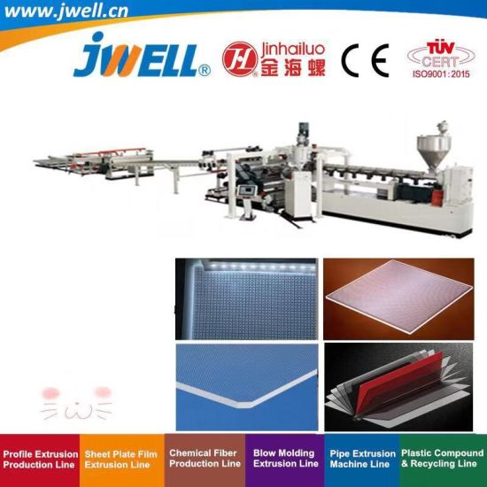 Jwell - GPPS LGP Plastic Board Sheet Recycling Agricultural Making Extruder Machine for Light Guide Ultra Light Box Diffuser Panel Acrylic Plate