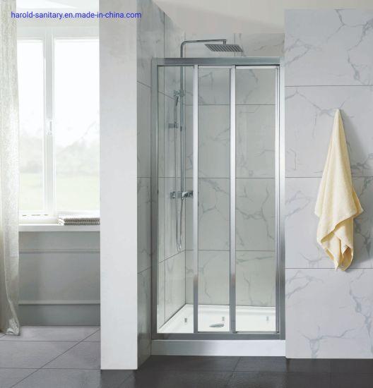 Aluminum Framed Profile Handle Connected Slider Shower Enclosure