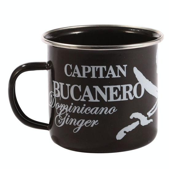 Hot Sales Custom Coffee Customized Cup Creative Logo Enamel Metal Camper Mug