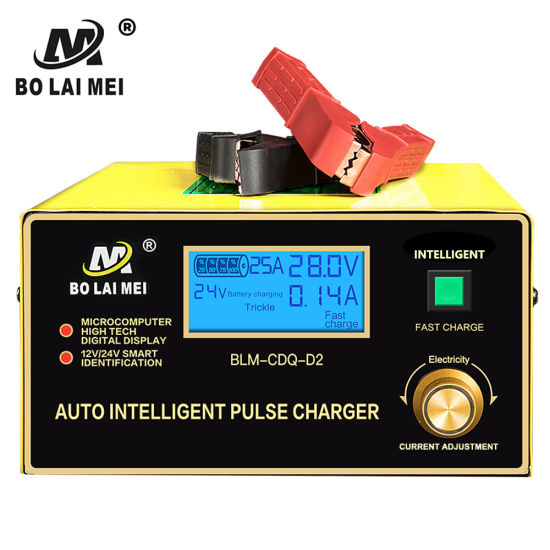 Truck Lorry Forklift Golf Cart Car SUV Motorcycle Van Auto Intelligent Pulse Battery Charger