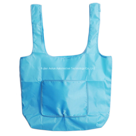 Big Capacity Reusable Folding Shopping Tote Vest Bags for Promotion