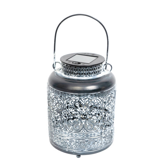 Metal Solar Lantern for Home and Garden Decoration