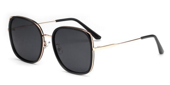 Square Oversized Tortoise Shell Sunglasses, Fashion Eyewear Black Shade for Women