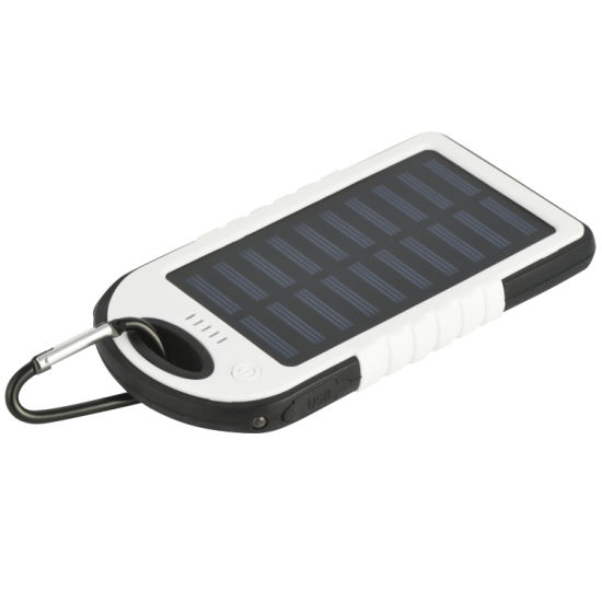 Solar Power Bank Waterproof Portable Solar Charger Outdoor Phone Chargers with LED Light Huge Capacity External Solar Backup Battery for iPhone Samsung,