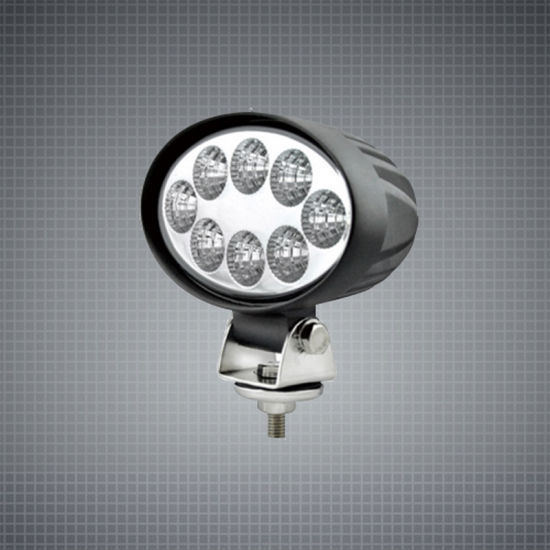 Oval 24W 6inch CREE Spot Flood LED Work Light for Tractor Forklift Truck Trailer