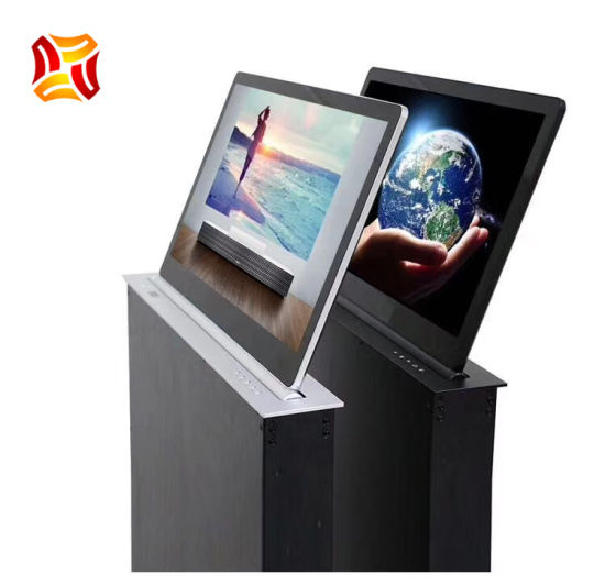 """15.6"""" Ultra Slim Full HD Capacitive Touch Display Screen Smart Electronic Table Monitor LCD Lift for Paperless Voting Conference System LCD Lift"""