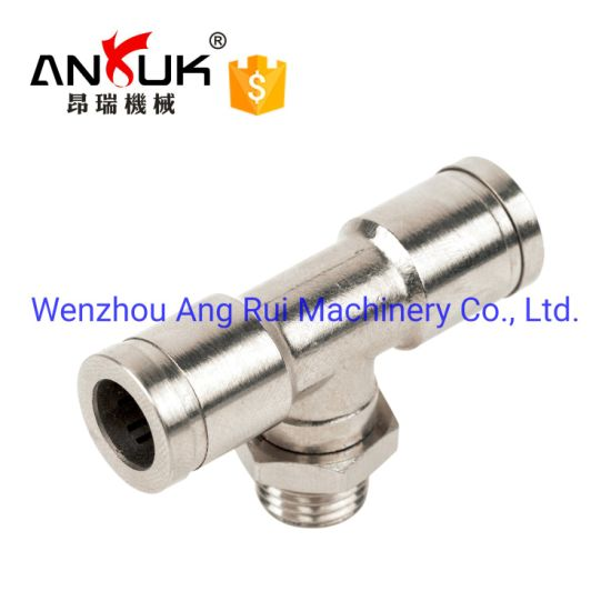 10 Pieces M5 Brass 4 Way Union Pneumatic Hose Connector
