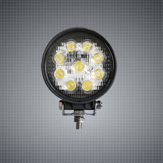 Waterproof 27W 4 Inch LED Work Lamp for Agriculture Machinery Truck Tractor Excavator