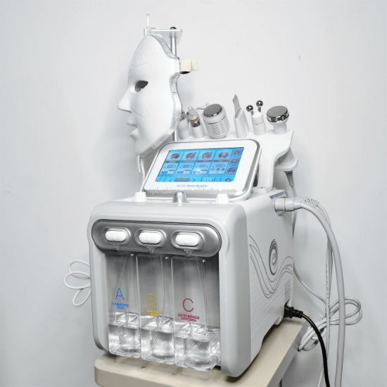 H2 O2 Hydrogen Oxygen Ultrasound Bio Microcurrent Eye Lift Cold Hammer Dermabrasion Hydra Facial Cleaning Aqua Peel Machine Skin Tighen Whiten Wrinkle Removal