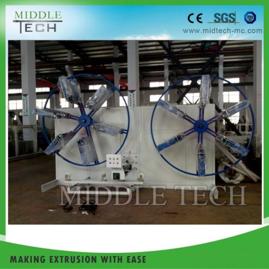 Plastic Process Auto Pipe Coiler Winder for Pipe Extrusion Line