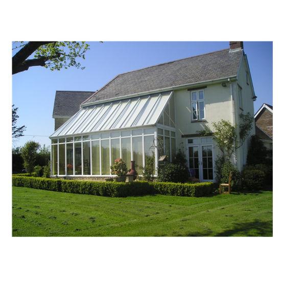 Small Winter Garden Sun Prefabricated Glass House Solarium Sunroom Terrace Prefab Glass Room Aluminum Portable Sun Room