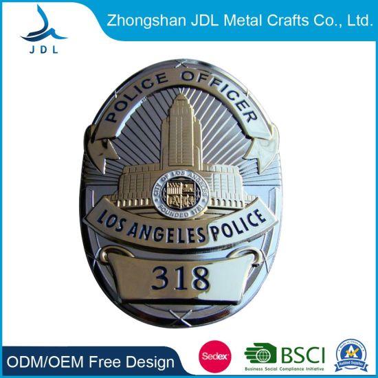 High-Grade Private Gifts Enamel for Soft Enamel Pin Badge Making Metal Custom Security Police Badges
