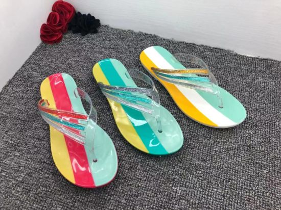 Colorful Summer Women PVC Jelly Shoes Made in Guangdong China Slipper