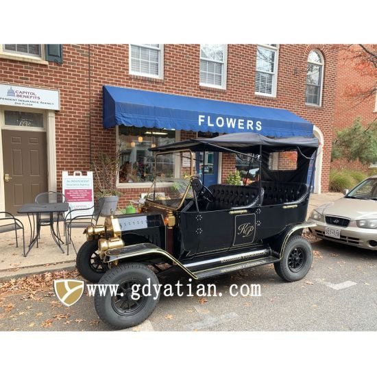Old Style Vintage 4 Seater Classic Electric Car for Sale