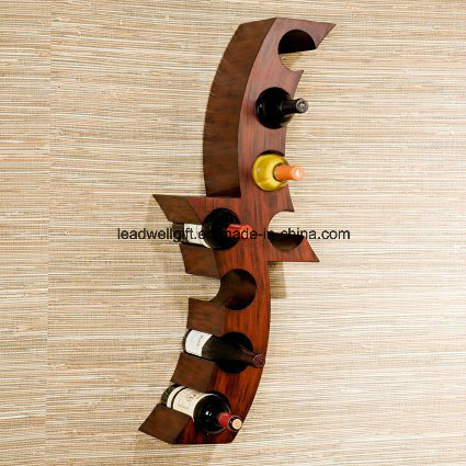 Functional, Decorative Wall Sculpture with Hand-Painted Finish Wall Mount Wine Accessories pictures & photos