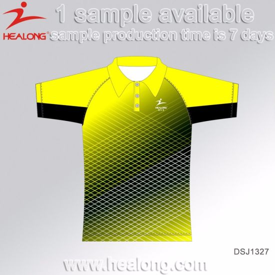 Healong China Cheap Price Sports Gear Sublimation Men's Polo Shirts for Sale