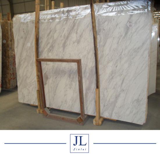 Polished Volakas Italy White Marble Tile Marble Slab Price Decorative Tiles