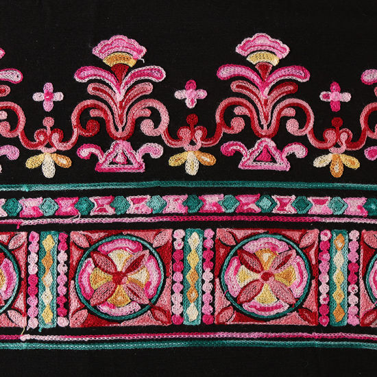 Colorful Ethnic Style Embroidery Lace Fabric for Garment Accessories