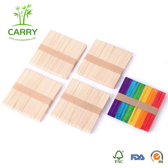 Custom Eco-Friendly Colorful DIY Decoration Wooden Products Ice Cream Stick pictures & photos