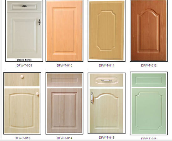 China 18mm PVC Thermofoil MDF Cabinet Door For Furniture