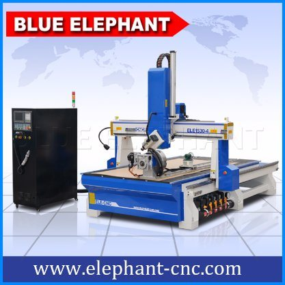 Ele1530 High Speed 4 Axis CNC Router for 3D Wood Carving with Ce, ISO9001, SGS, FDA pictures & photos