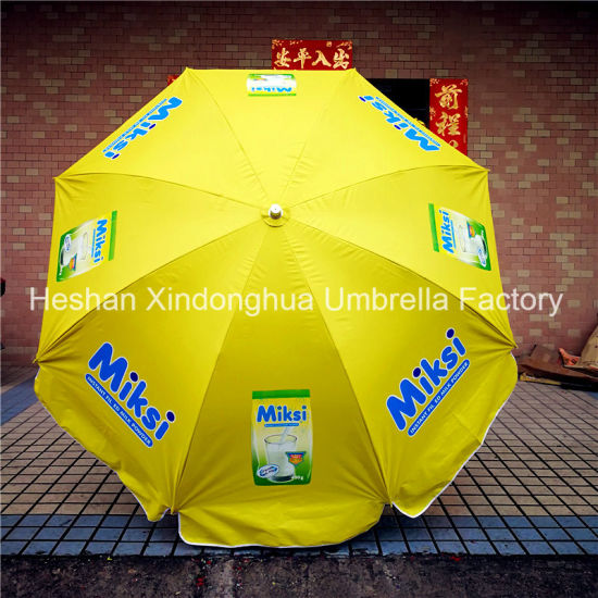 220cm Outdoor Beach Umbrella Parasol for Advertising (BU-0048W) pictures & photos