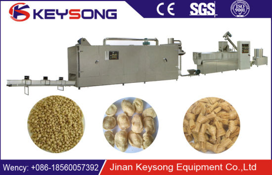 Isolated Textured Vegetable Soybean Soya Protein Food Machine pictures & photos
