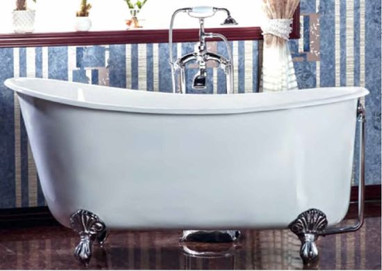 Cast Iron White Classic Slipper Bath Tub pictures & photos