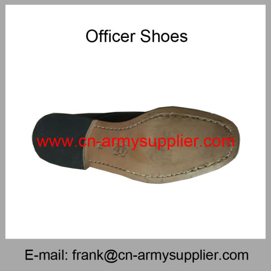 f1636b191a5d Wholesale Cheap China Army Leather Sole Military Police Officer Shoes -  China Officer Shoes, Police Shoes