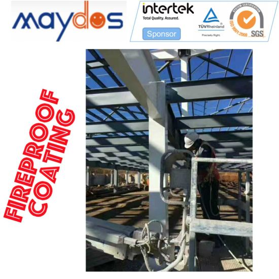 Passive Fire Protection Pfp Industrial Fireproof Coating for Steel Structure (3 hours fire rated period)