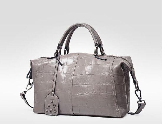 Hot Fashion Designer Croco Handbags For Women Bowling Bag