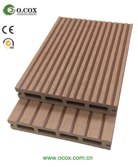 WPC Decking Wood Plastic Composite Flooring Wood Grained WPC Decking