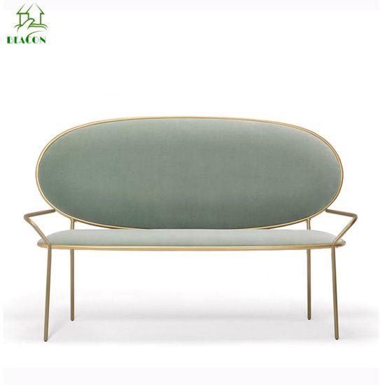 Royal Style Romantic Modern Velvet Fabric Lounge Sofa Living Room Chair