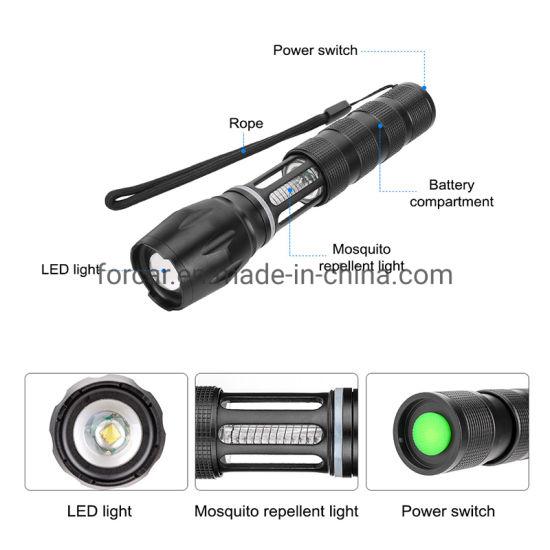 Wasserdichte T6 LED Taschenlampe UV Mosquito Killer Light Repellent für Camping