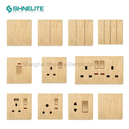 Hot Sale Electrical 10A 4 Gang Wall Light Switch