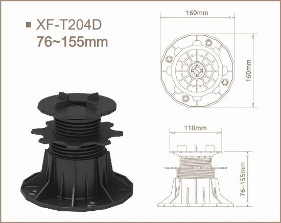 Punch-Free Installation PP Pedestals with Adjust Range 75-155mm for Slops