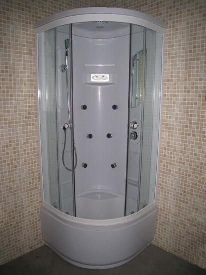 Deep Tray Round Corner Sliding Steam Shower Bath Cabin