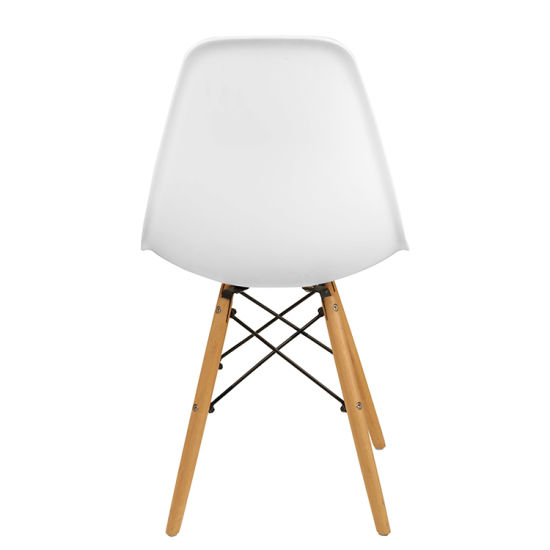 Europen Design Cheap Spoon Shape Marble Dining Table Patio Furniture Plastic Chair at Home