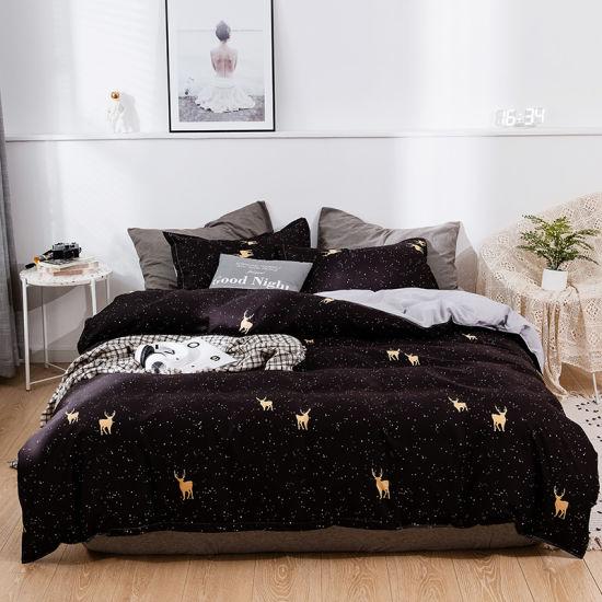 Nantong Home Textile Manufacture Printed 80GSM Microfiber Polyester Bedding Set