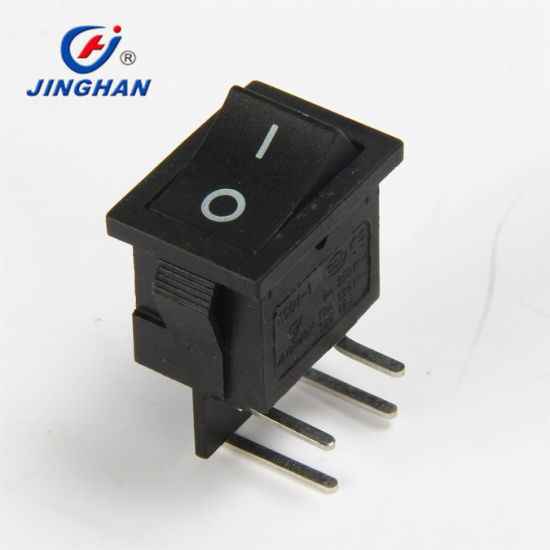 Kcd1-104L 4 Pins Right Angle Mini Rocker Switch on-off Electronic Rocker Switch