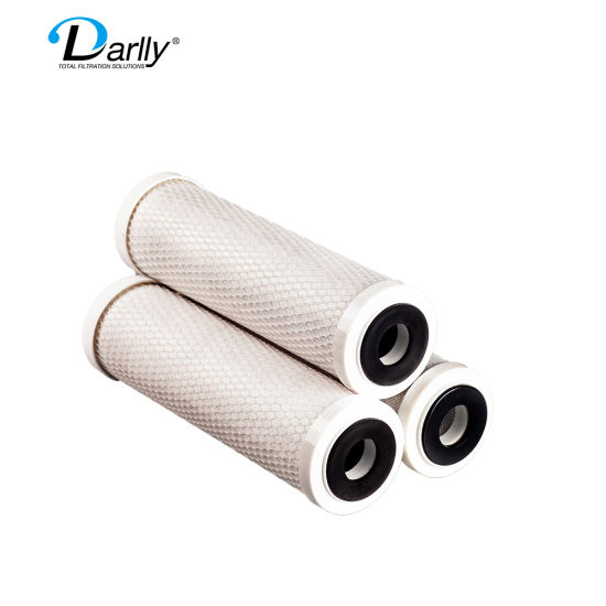 10'' Darlly Manufacturer Carbon Block Bottle Filter for Drinking Water CTO