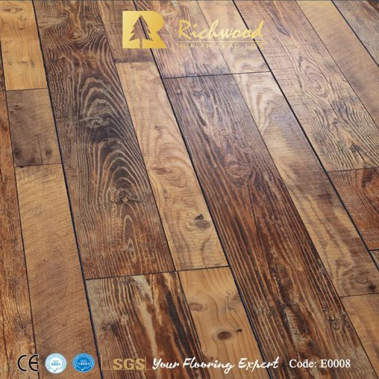 China Commercial 12 3mm E1 Eir Elm, Is Laminate Flooring Water Resistant