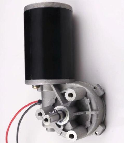12V 24V 300rpm High Power DC Worm Gear for Servo Motor