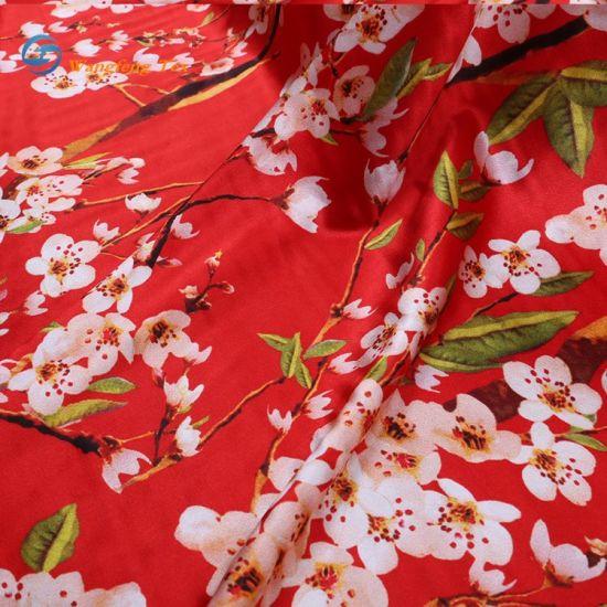 Polyester Lining Printed/Printing Silk Dress Home Textile Chiffon Knitting Chiffon Fabric for Sofa Curtain Jacquard Furniture Bedsheet