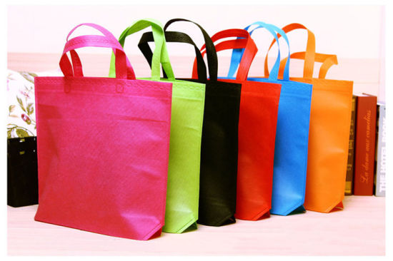 Big Supermarket Reusable Folding Fabric Promotional Non Woven Shopping Bag