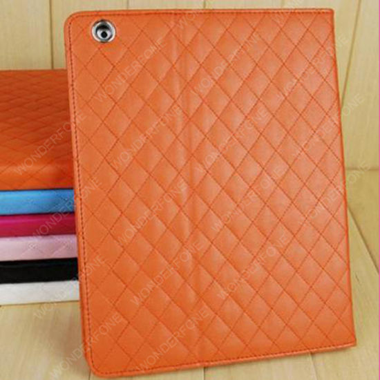Rhombus Quilted PU Leather Case for iPad Air pictures & photos