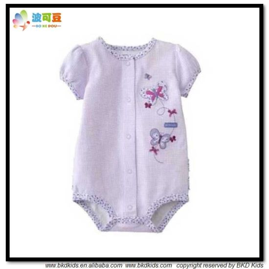 New Design Baby Apparel Bubble Sleeve Baby Bodysuit