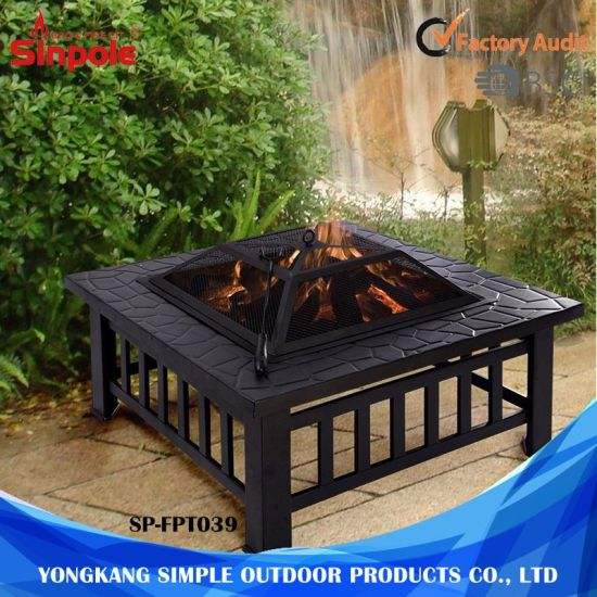 China Multifunctional Outdoor BBQ Grilling Table And Fire Pit With - Grill table fire pit all in one
