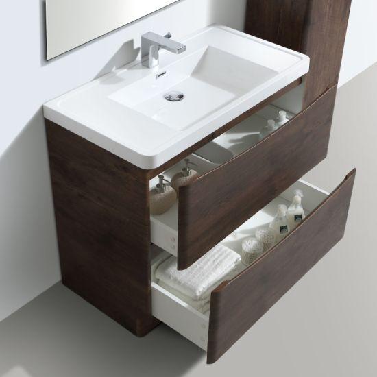 China Wall Hung Bathroom Vanity Cabinet 2 Drawer White Gloss 600 800 900 China Bathroom Cabinet Bathroom Vanity