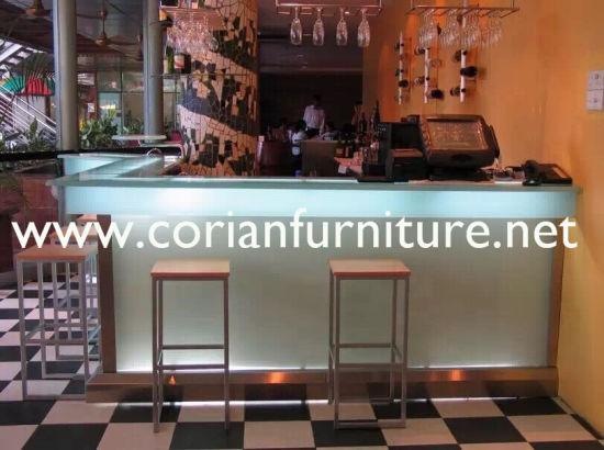 China Bar Countertop Restaurant LED Bar Counter Marble Stone Bar ...